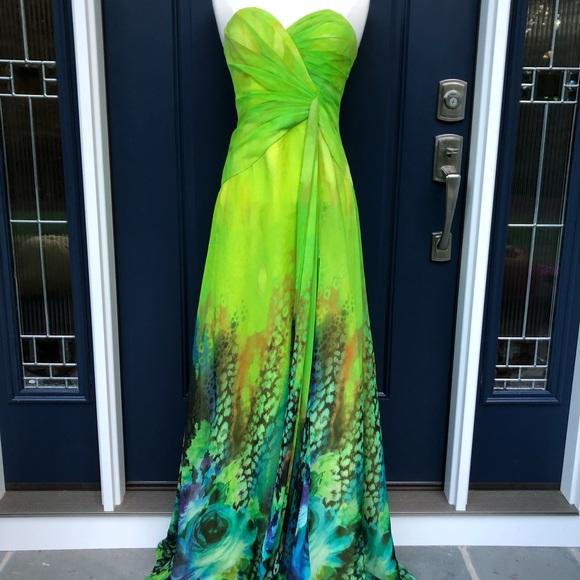 Faviana Dresses & Skirts - Faviana Couture Green Strapless Prom Dress